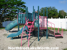 Behind the community pool is a playground for Northtree's smaller residents.