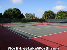 There are two community tennis courts available for use by Northtree residents. After a rousing tennis match head over to the pool to cool off.
